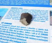 Originální úlomek meteoritu Morávka
