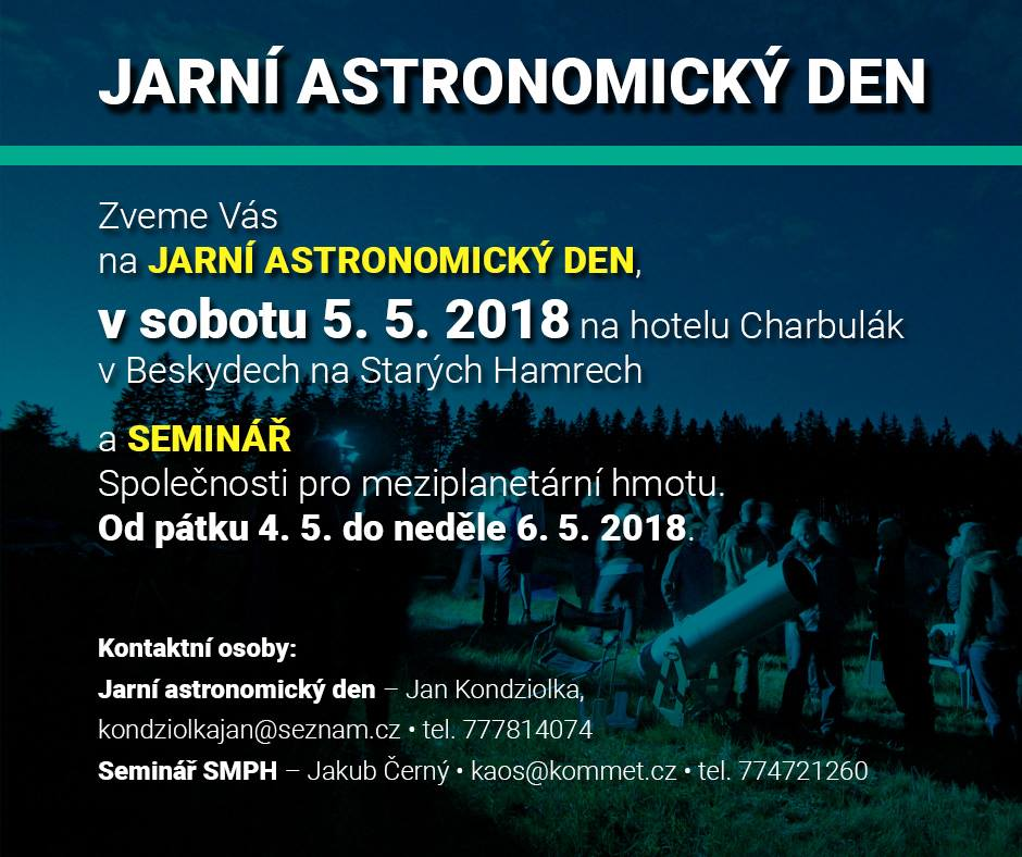 Jarní astronomický den a odborný seminář