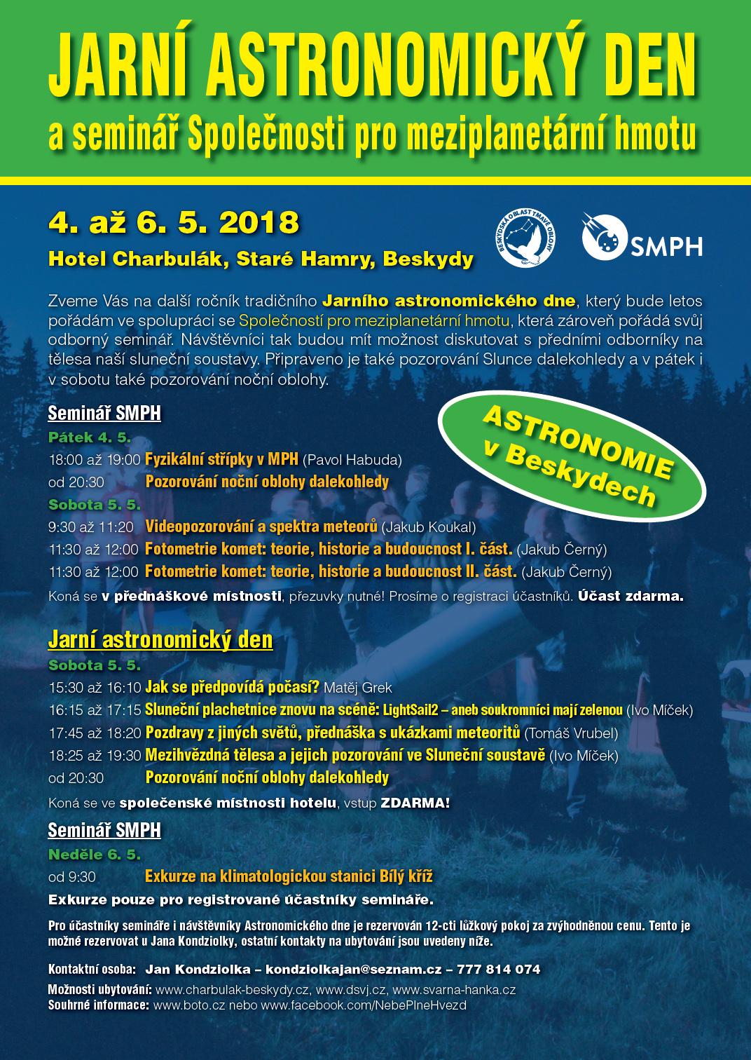 Pozvánka na Jarní astronomický den 2018