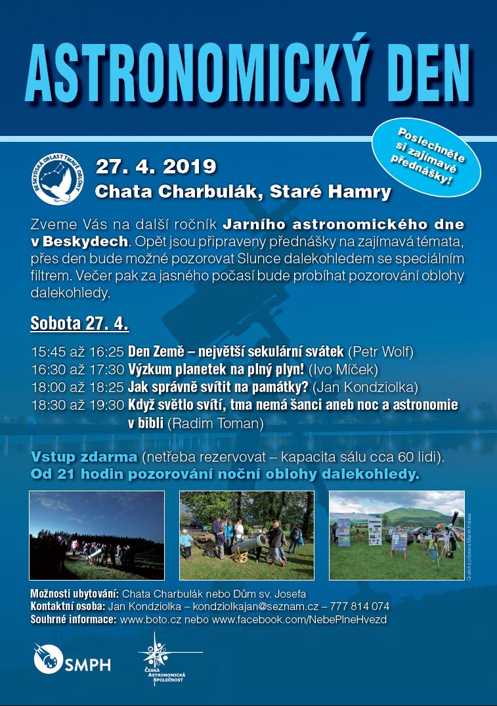 Pozvánka Jarní astronomický den 2019